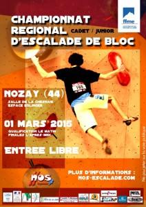 Championnat régional bloc cadet / junior @ Nozay - Espace Edlinger, Salle de la Chesnaie   Nozay   Pays de la Loire   France